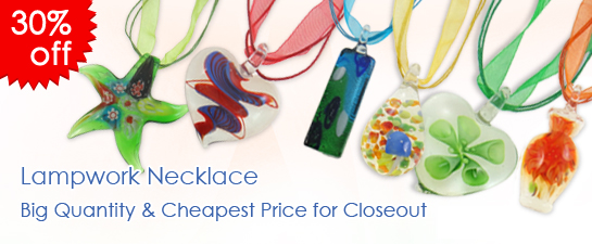 cheap lampwork necklace